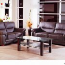 Sienna Brown or Black Leather 3pc Sofa Set Sofa, Loveseat and Chair