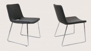 Nevada Flat Chair in Wool Fabric By BNT