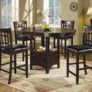 102888-89 Lavon Cappuccino Counter Height 5pc Dining Set