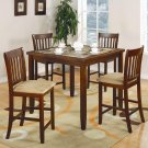 150154 Normandie Counter Height 5pc Dining Set