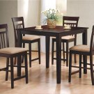 150041 Hyde Cappuccino Counter Height 5pc Dining Set