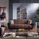 Duru 3pc Convertible Sofa Set in Optimum Brown