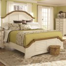 Oleta King Panel Bed with Shutter Detail