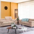 973 Premium Peanut Leather Sofa and Loveseat Set