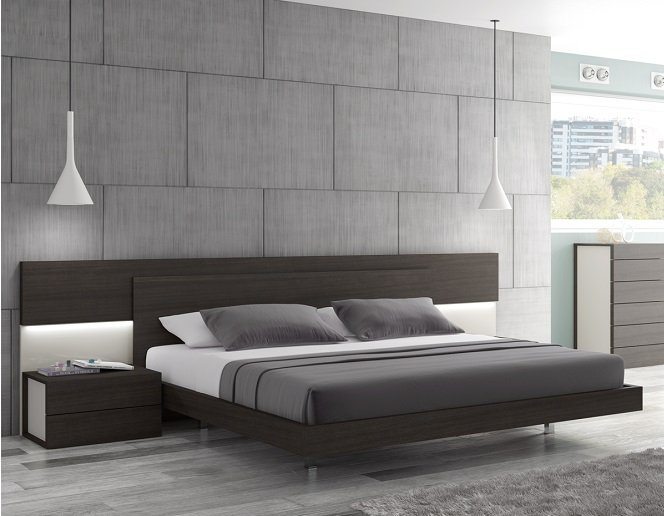 pictures of contemporary bedrooms maia modern king size platform bed 16659