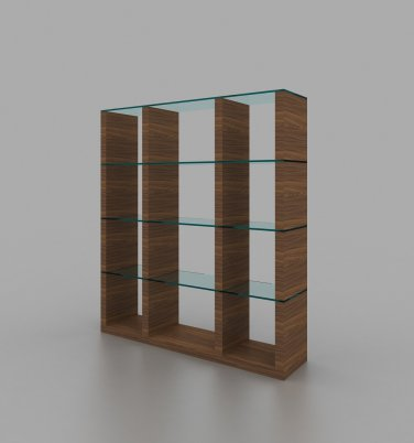 Elm Modular Wall Unit in Walnut by J&M Furniture