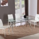 Modern T058 Glass Dining Table and C031B Dining Chairs