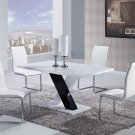 D490DT-D490DC-WH 5pc Dining Set by Global