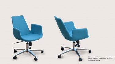 Eiffel Arm Office Chair in Camira Wool