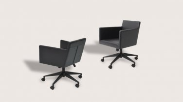 Harput Office Chair in Genuine Leather