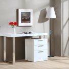 Modern White Reversible Office Desk