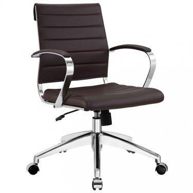 Marco Modern Office Chair in Brown Vinyl