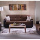 Luna Sofa Bed , Loveseat and Chair in Naomi Brown