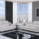 U8141-GR Bonded Leather 2pc Living Room Set