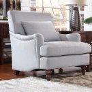 Helen Lt Grey Accent Chair