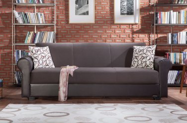 Enea Sofa Bed In Diego Brown by Sunset