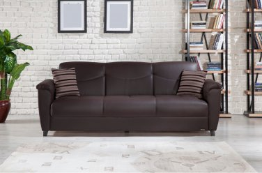 Aspen Santa Glory Brown Sofa Bed With Storage