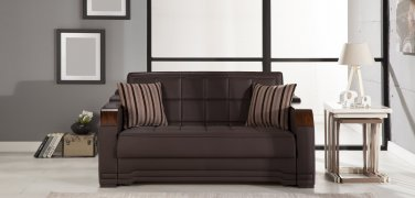 Willow Loveseat Sleeper in Santa Glory Brown