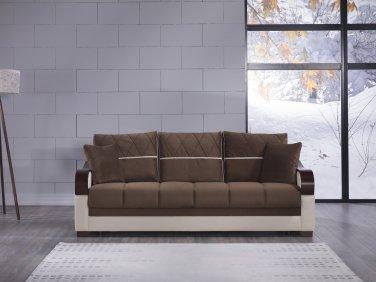 Bennett Best Brown Convertible Sofa Bed