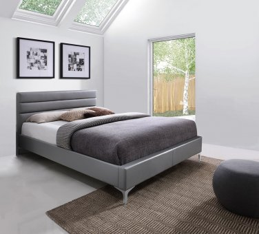 Nario Queen Size Bed in Grey Color by J&M