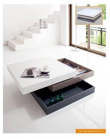 3-tone Finish Modern Square Coffee Table