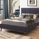 Queen Size Upholstered Bed in Blue Color