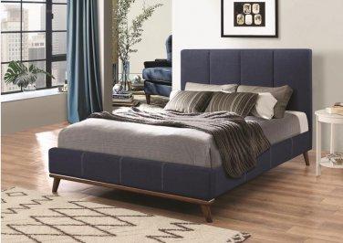 King Size Upholstered Bed in Blue Color