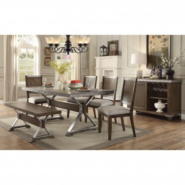 Tempo Rustic Style 6pc Dining Set