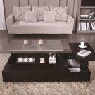 Motion Black Veneer/Gray Gloss Storage Coffee Table