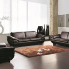 Prestige Brown Leather Sofa and Loveseat