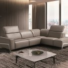 Ocean Grey Premium Leather Sectional