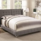 Cordelia Full Size Bed in Grey Fabric