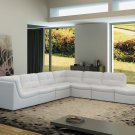Lego 7pc Set In White Leather Sectional