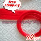 "High Quality Clip In Silky Straight 23"" Hair Extensions for two pcs-- Red~available now~"