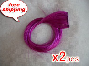 """High Quality Clip In Silky Straight 18"""" Hair Extensions for two pcs--Rubine Red~available now~"""
