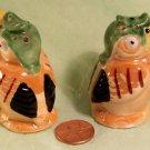 Germany Bird Salt Pepper c '50's Porcelain Luster