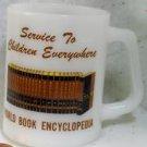 Fireking Milk Glass World Book Encyclopedia Mug Cup