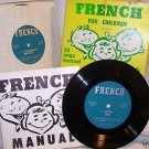 Learn French for Children 33 1/3 Long Play Manual 1964