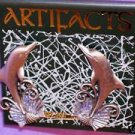 Artifacts Pewter Dolphin Shell Earrings NEW MIP c 90's