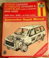 Dodge Plymouth Chrysler Mini Van 84-95 Haynes Manual VG...10012