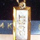 24 KT Bar  Charm Forevergold by Santogold MIP...10022