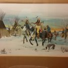 "David William's ""Winter Hunt"" Painting Native American"