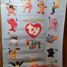 Vintage McDonalds Walmart Teenie Beanie Baby Window Poster 1998