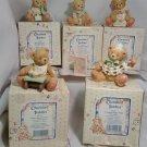 Cherished Teddies Birthday Bear Figures w/ boxes 1 to 5 years