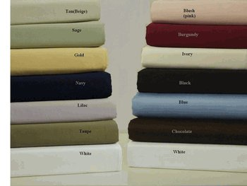 Twin Extra-Long Solid 550 Thread count Egyptian cotton sheet set