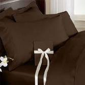 Deep Pocket Chocolate Fitted Sheet 600TC Queen Size 100% Egyptian Cotton