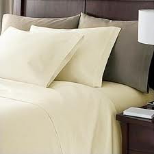 Deep Pocket Ivory Fitted Sheet 600TC Queen Size 100% Egyptian Cotton
