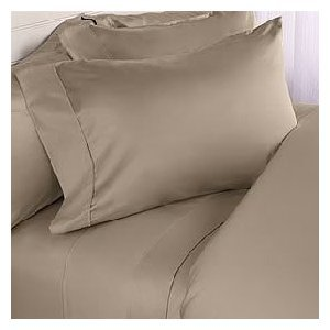 Deep Pocket Beige Fitted Sheet 600TC Taupe Size 100% Egyptian Cotton