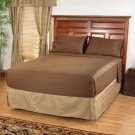 Deep Pocket Brown Fitted Sheet 600TC Queen Size 100% Egyptian Cotton
