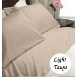 Deep Pocket Light Taupe Fitted Sheet 600TC Queen Size 100% Egyptian Cotton